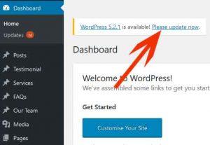 Update WordPress Backend